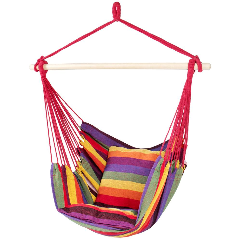 Hammock Hanging Rope Chair with 2 Pillows