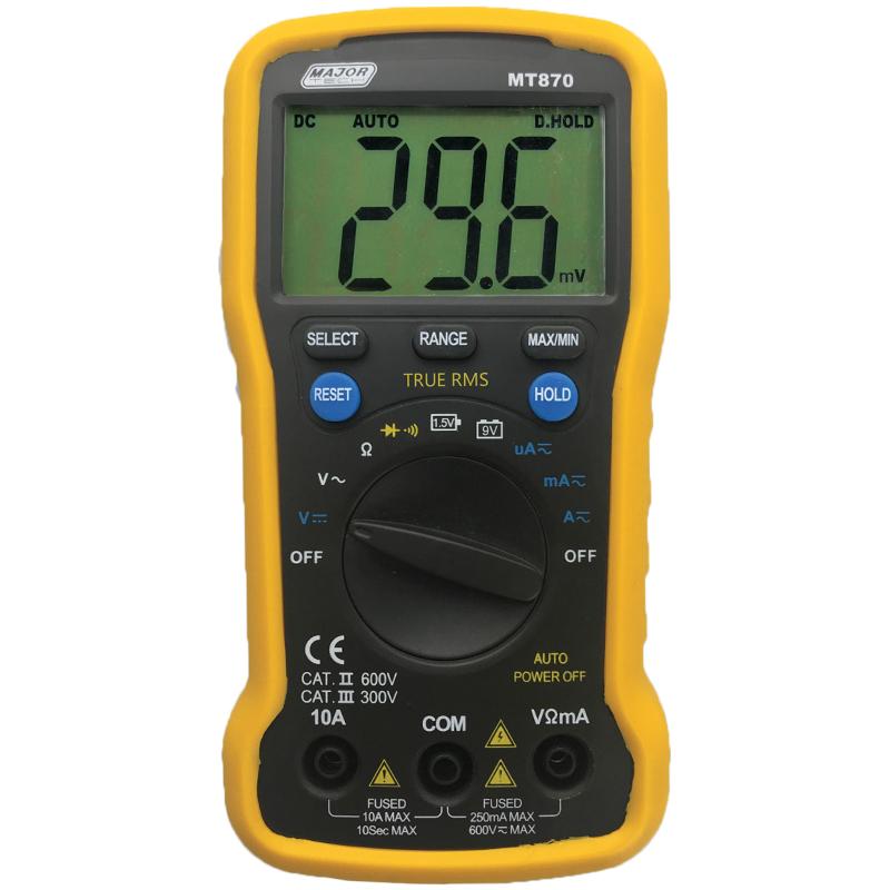 Digital Multimeter (MT870) - Major Tech