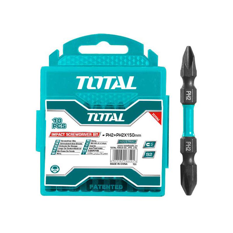 Total Tools Screwdriver Bit Set 10Pcs Impact