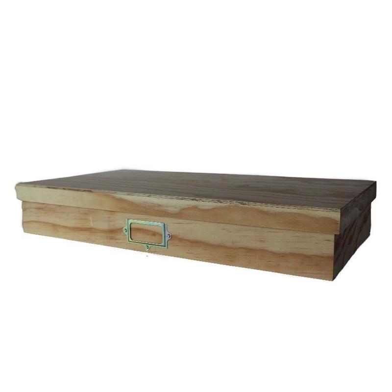 Art Storage  Box - Natural- Wood
