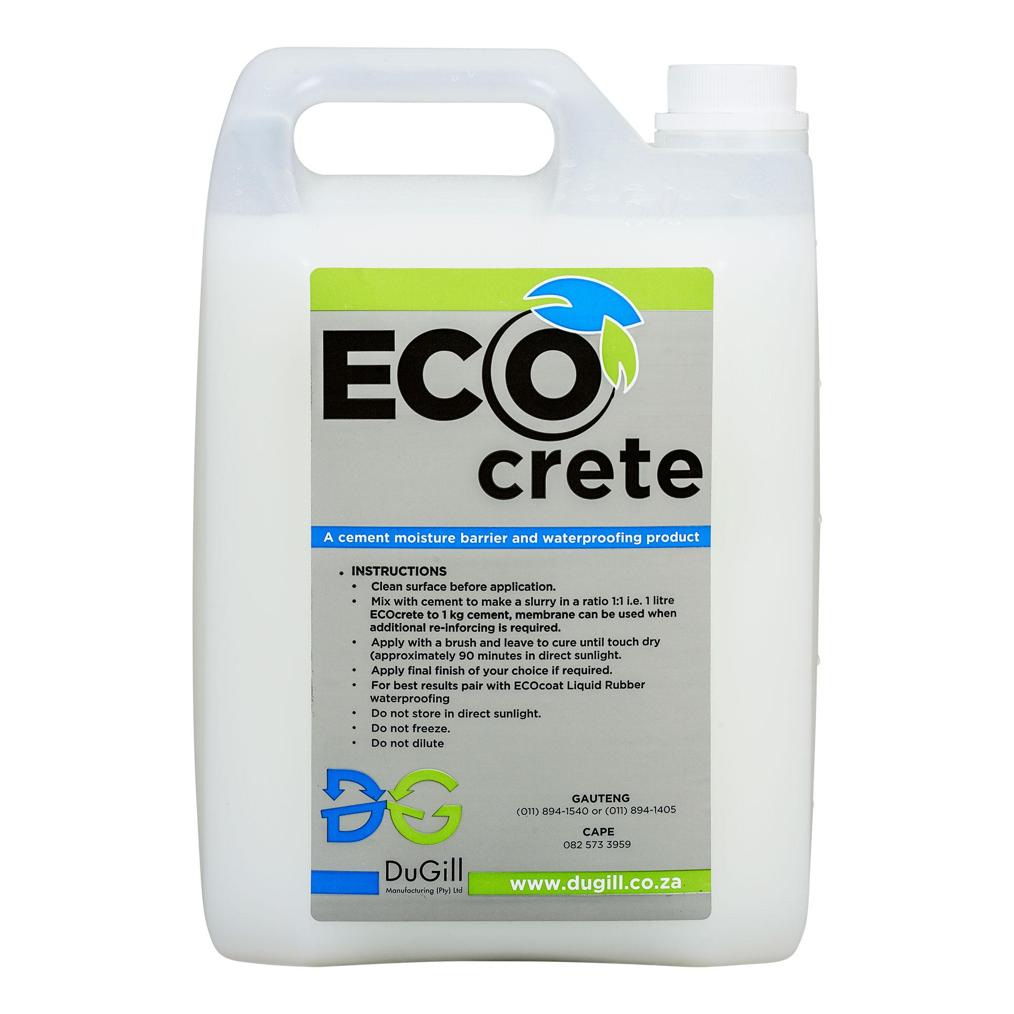 EcoCrete Concrete/Cement Waterproofing Barrier  5l