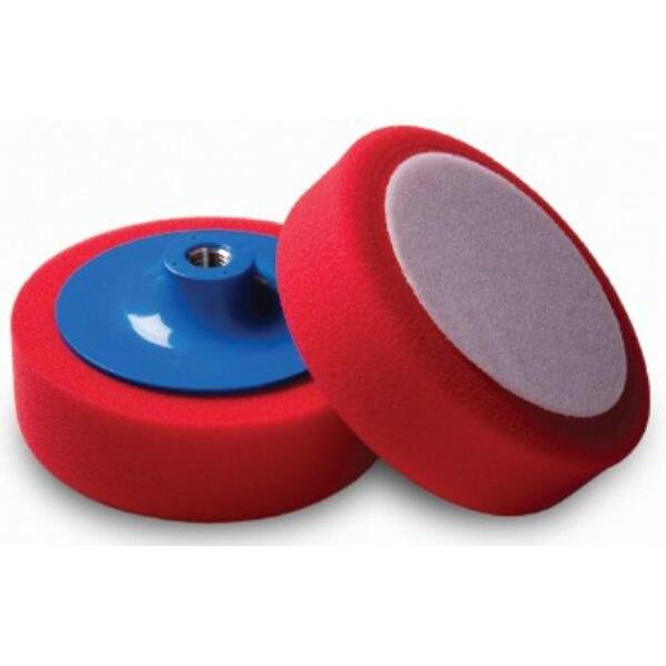 150 X 50MM RED HOOK AND LOOP POLISHING FOAM ULTRA SOFT