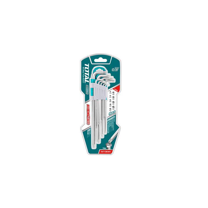 Total Tools 9Pcs Industrial Torx Key