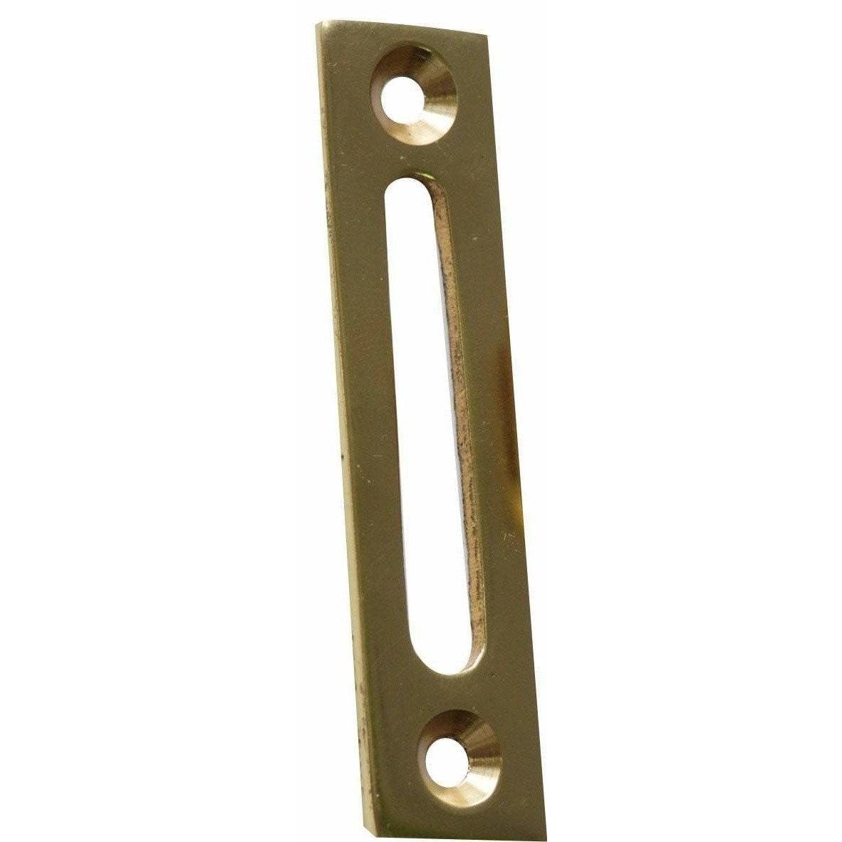 Solid brass striker for wooden window handles