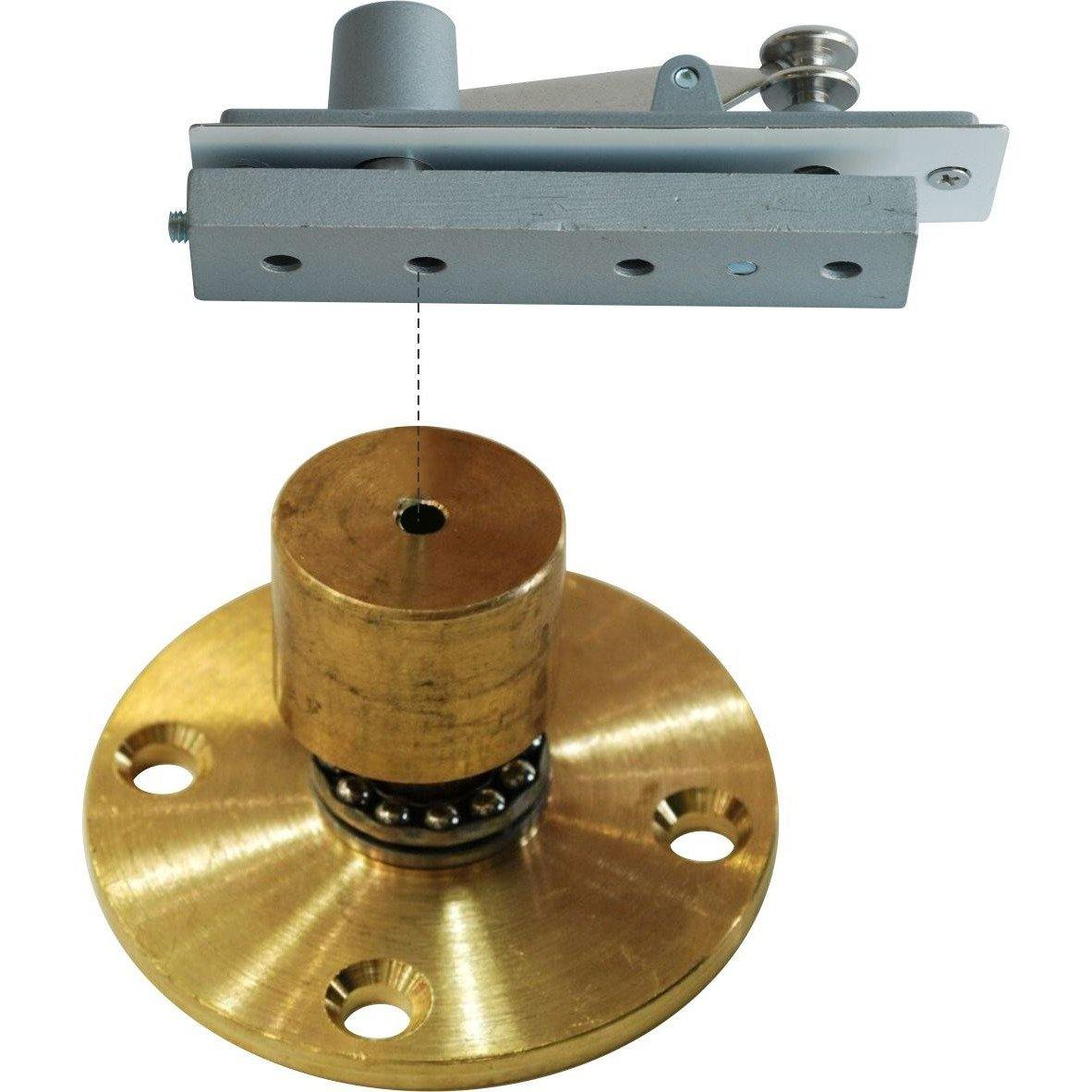 Pivot hinge - ball bearing bottom with spring top combination