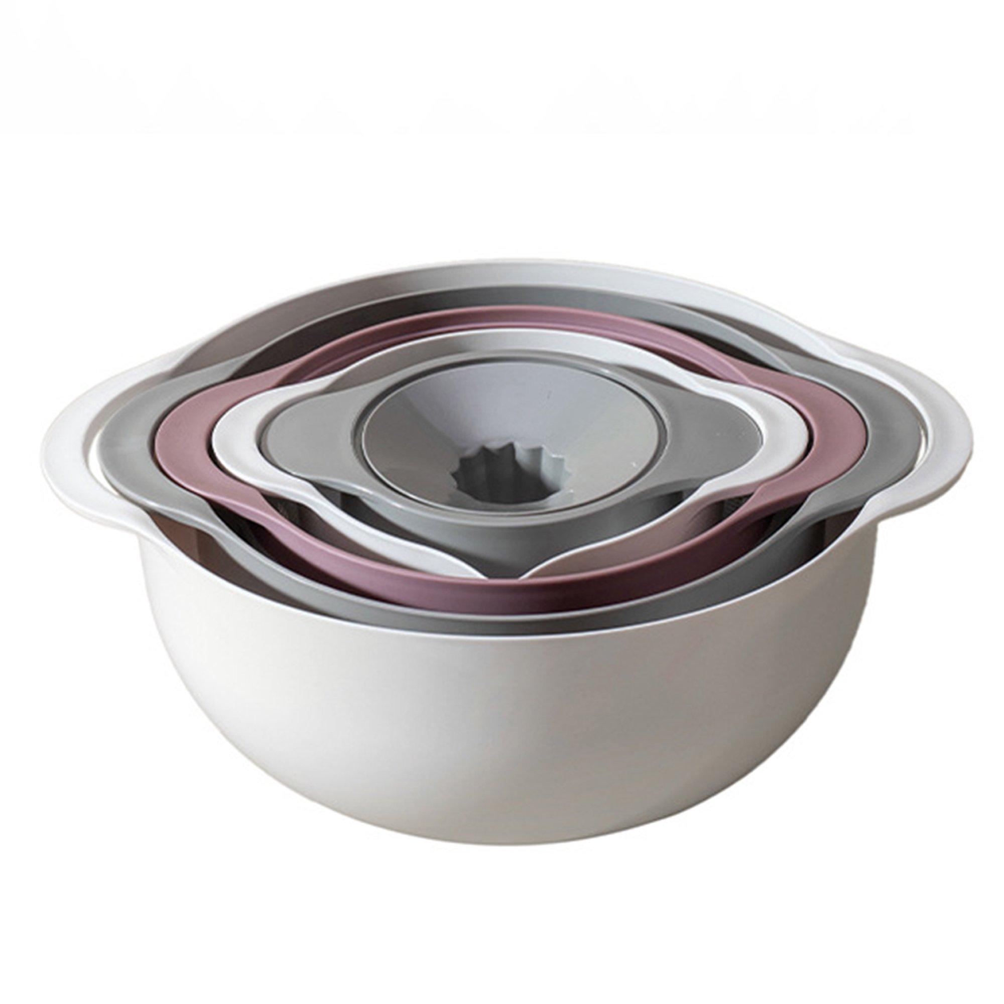 5Pcs Nesting Bowl Colander Juicer Set