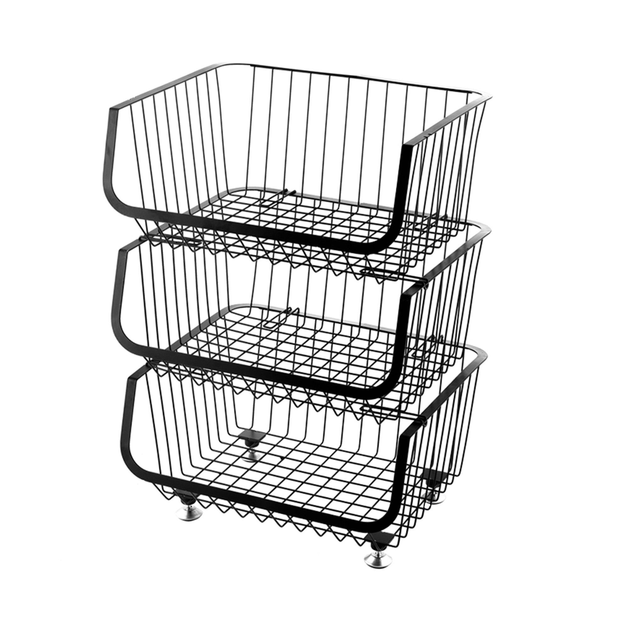 3 Tier Wire Storage Basket Unit