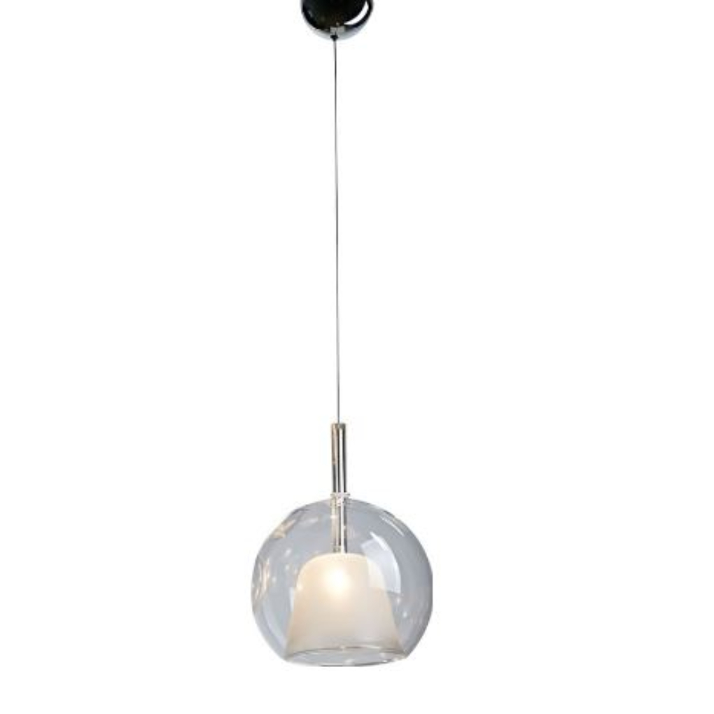 Elegant Pendant Light - Clear and Frosted Glass