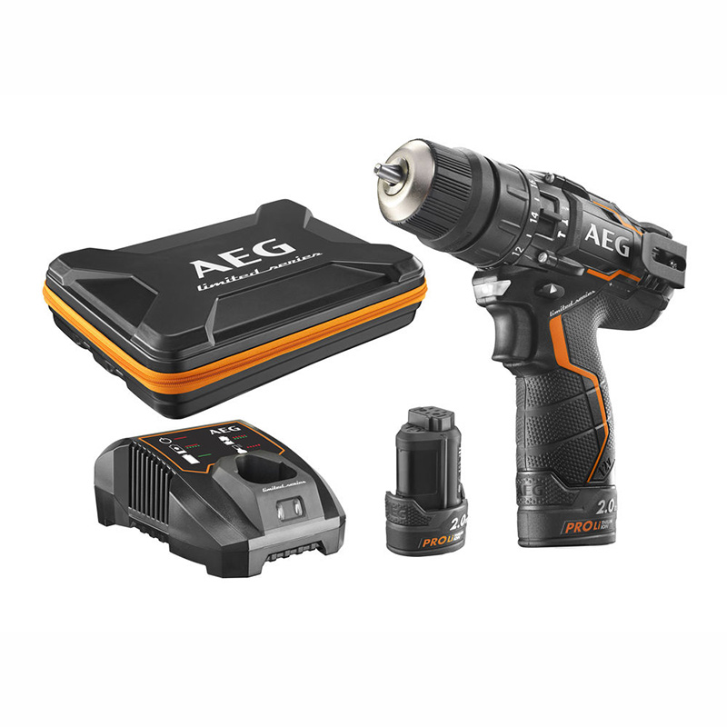 AEG 12V 2-Speed Ultra Compact Percussion Drill Set - BSB 12C2LE-202X