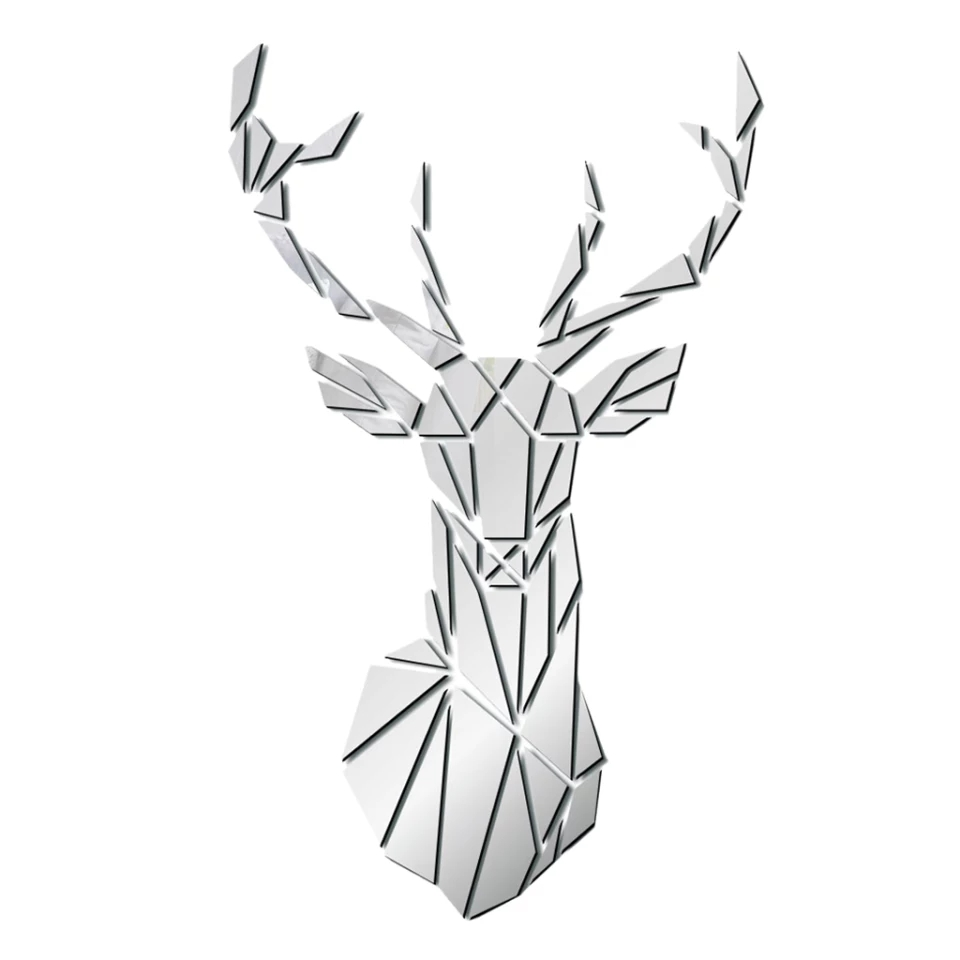 Silver Antelopes Wall Art: 26x43 cm