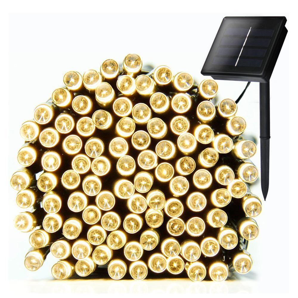Litehouse Solar 100 LED Fairy Lights - 10m Warm White