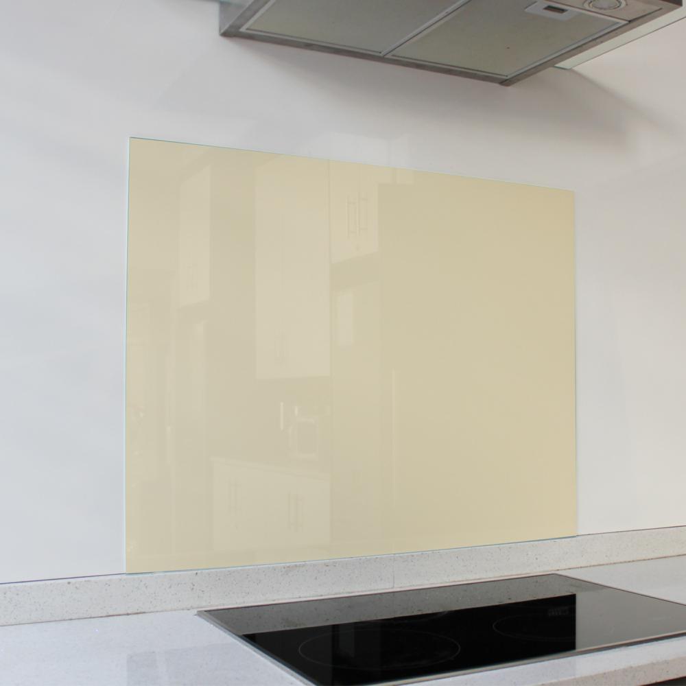 Ivory Satin Hob Glass Splashback (898 x 700 x 6mm)