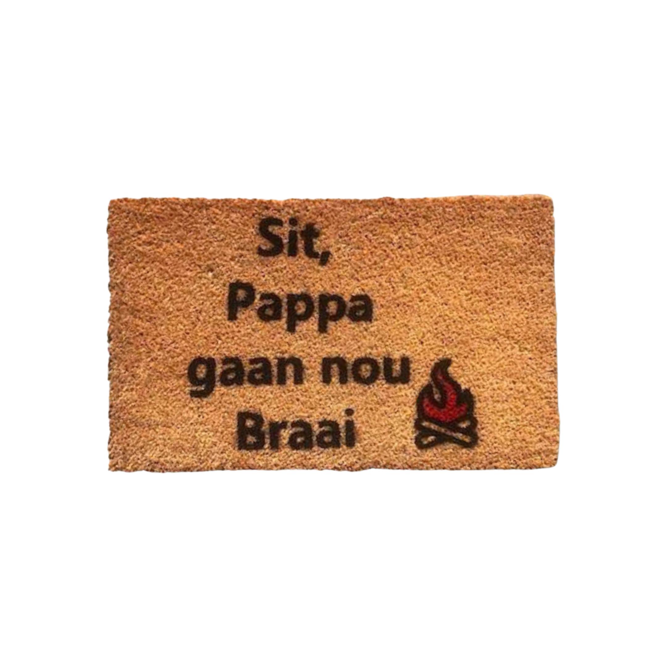 Matnifique Coir Doormat - Pappa Braai Design 700 x 400 x 14mm