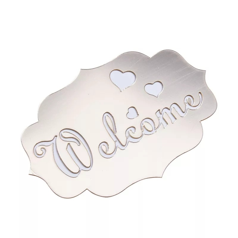 Welcome Sign - Silver