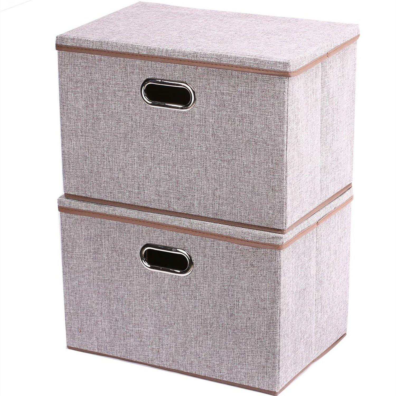 2 Pack Folding Canvas Storage Box
