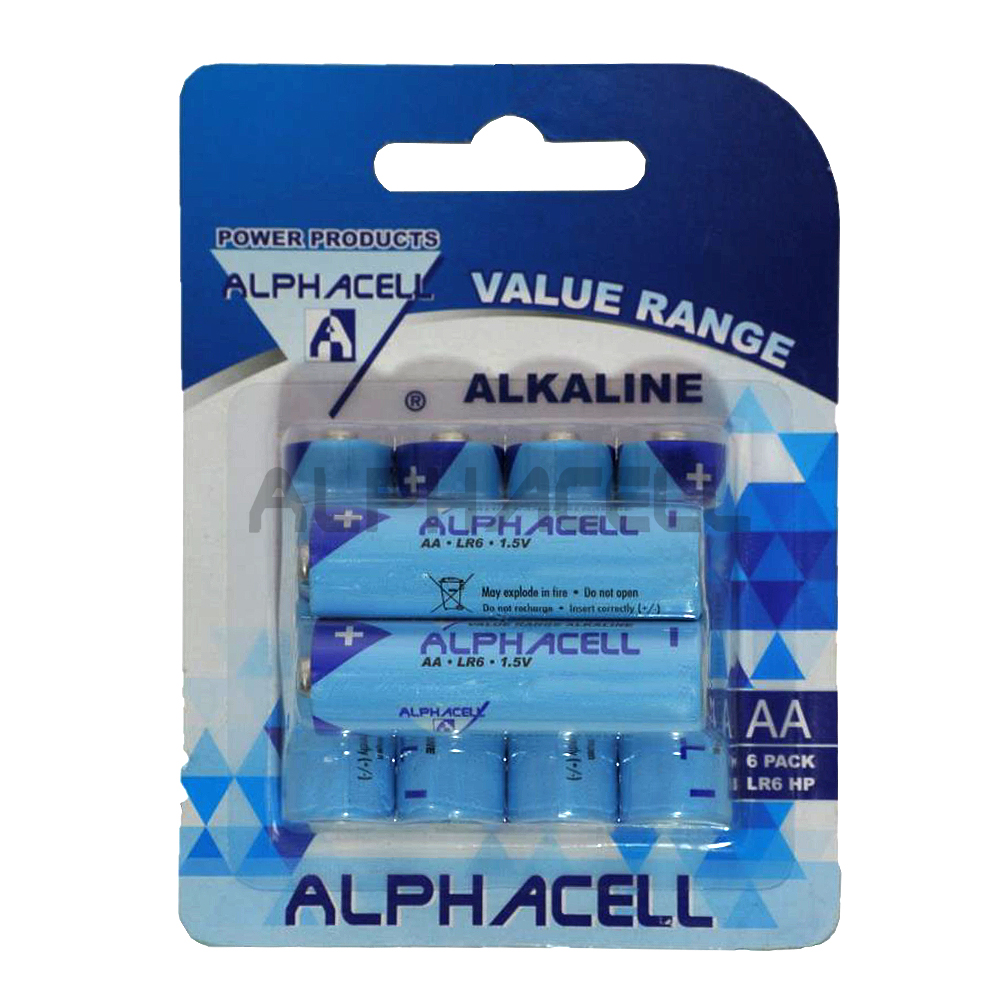 Alkaline Value AA LR6 6pc - CARDED