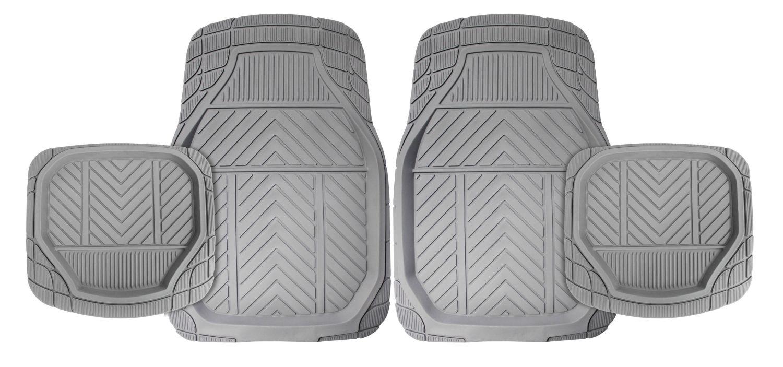 Michelin - 4Pc Deep Trough Mat Set (Grey)
