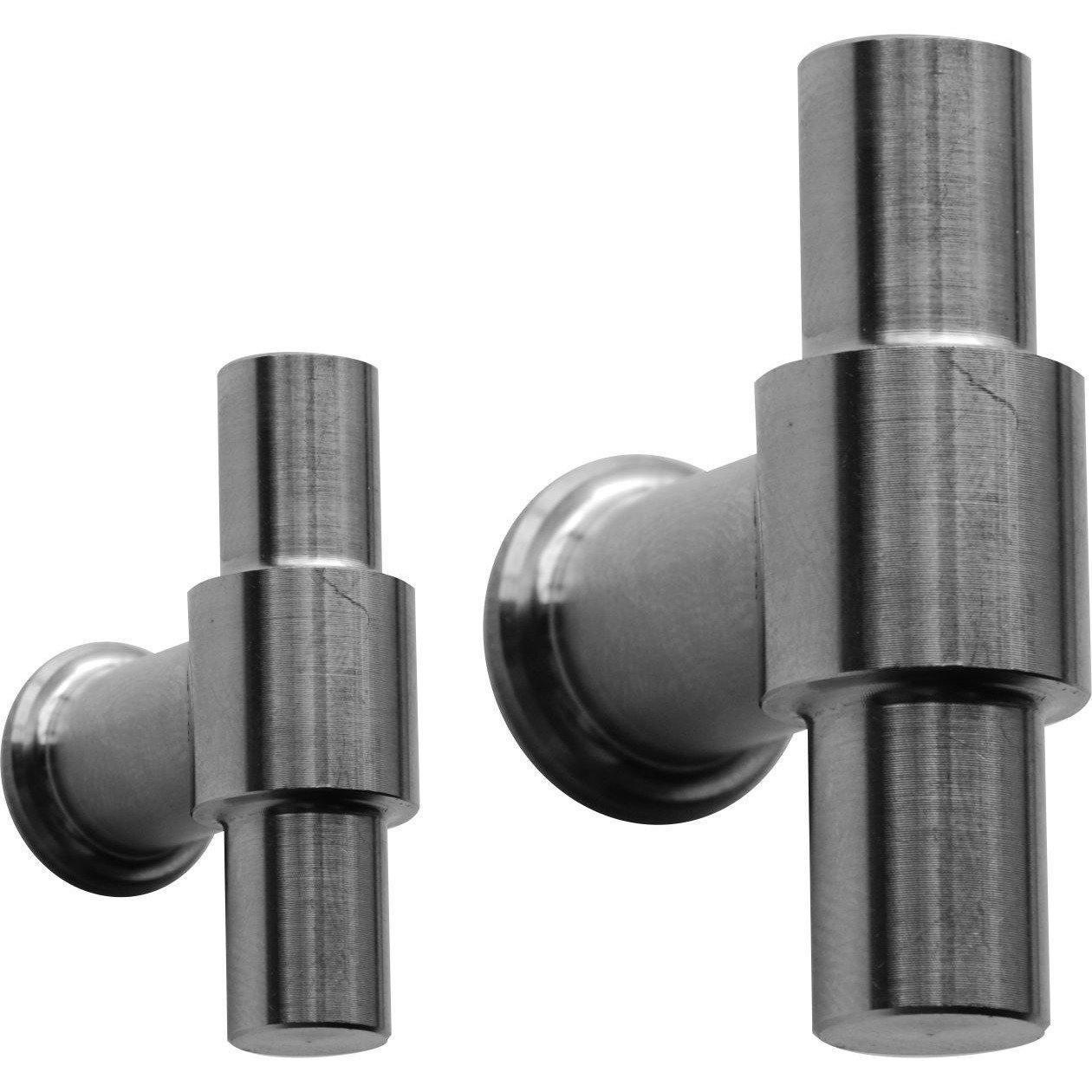 """T"" shaped modern cupboard handles"
