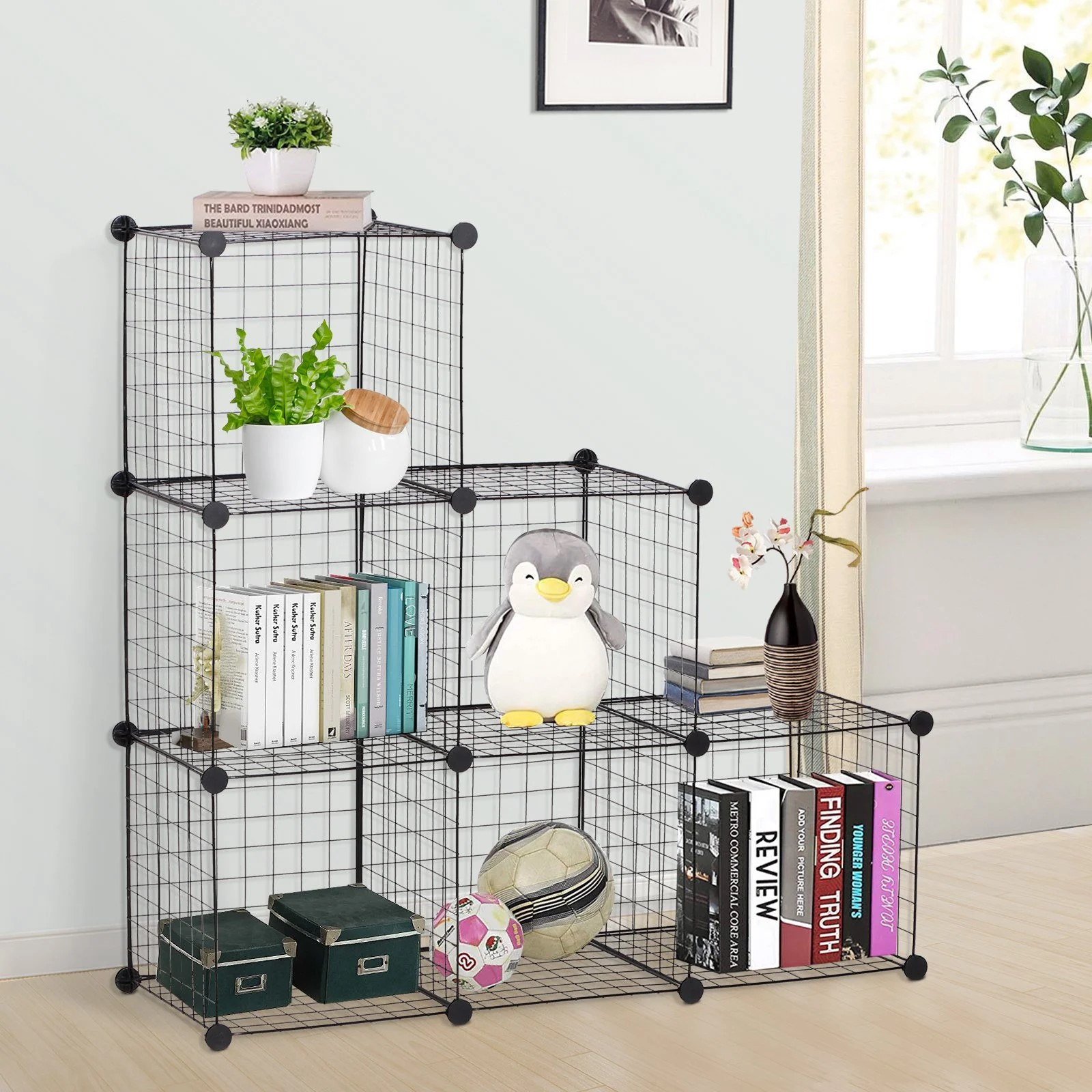 Wire 6 Cube Cabinet