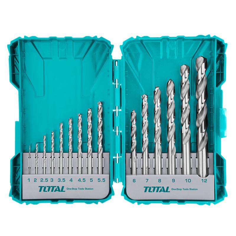 Total Tools 15Pcs HSS M2 Drill Bits Set