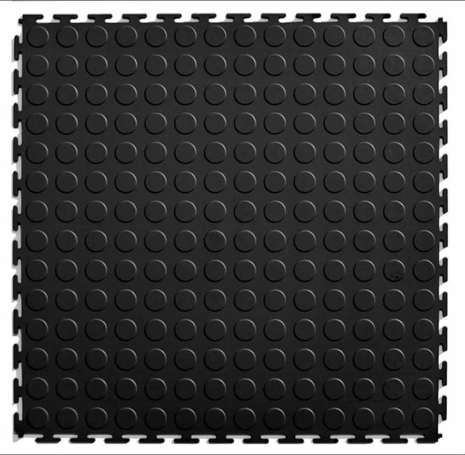 3 SQM Black PVC Mats (12 pc)