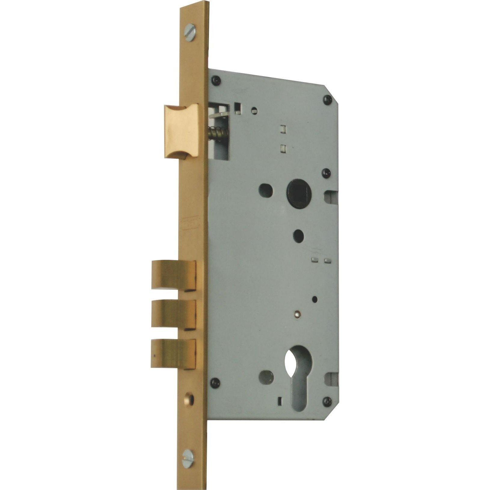 3 Pin Double Locking Door Lock - 60mm Backset - Latch (Lock Body Only)