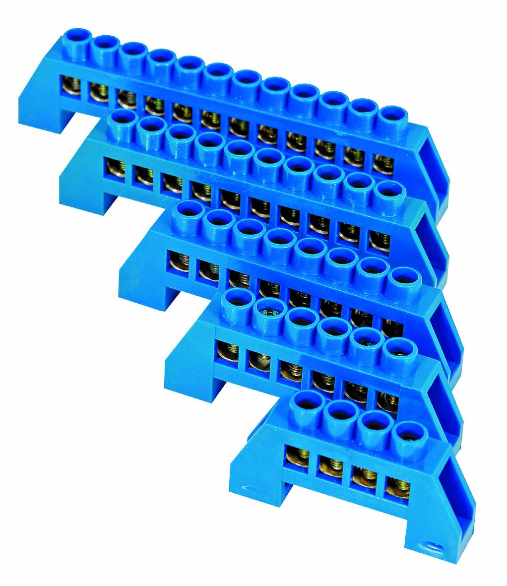 TERMINAL BLOCK 8X12 4 WAY BLUE
