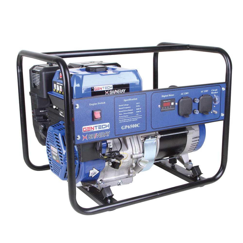 Gentech Power 5.5KVA Recoil Start Contractors Design Generator