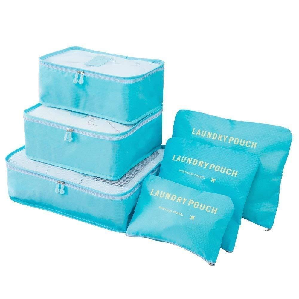 6Pcs Travel Luggage Packing Cubes Organizers