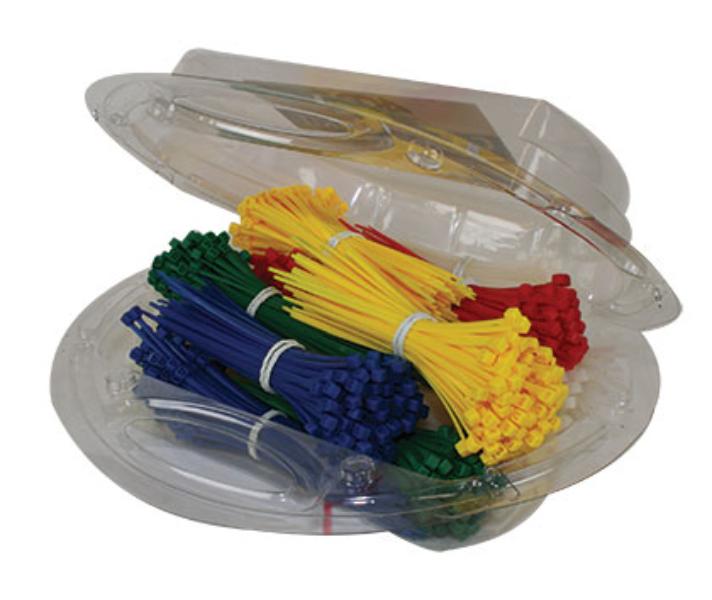 1200 Piece Multi-Colour Cable Tie Pack