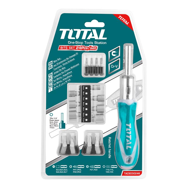 Total Tools Screwdriver Set Ratchet 24Pcs