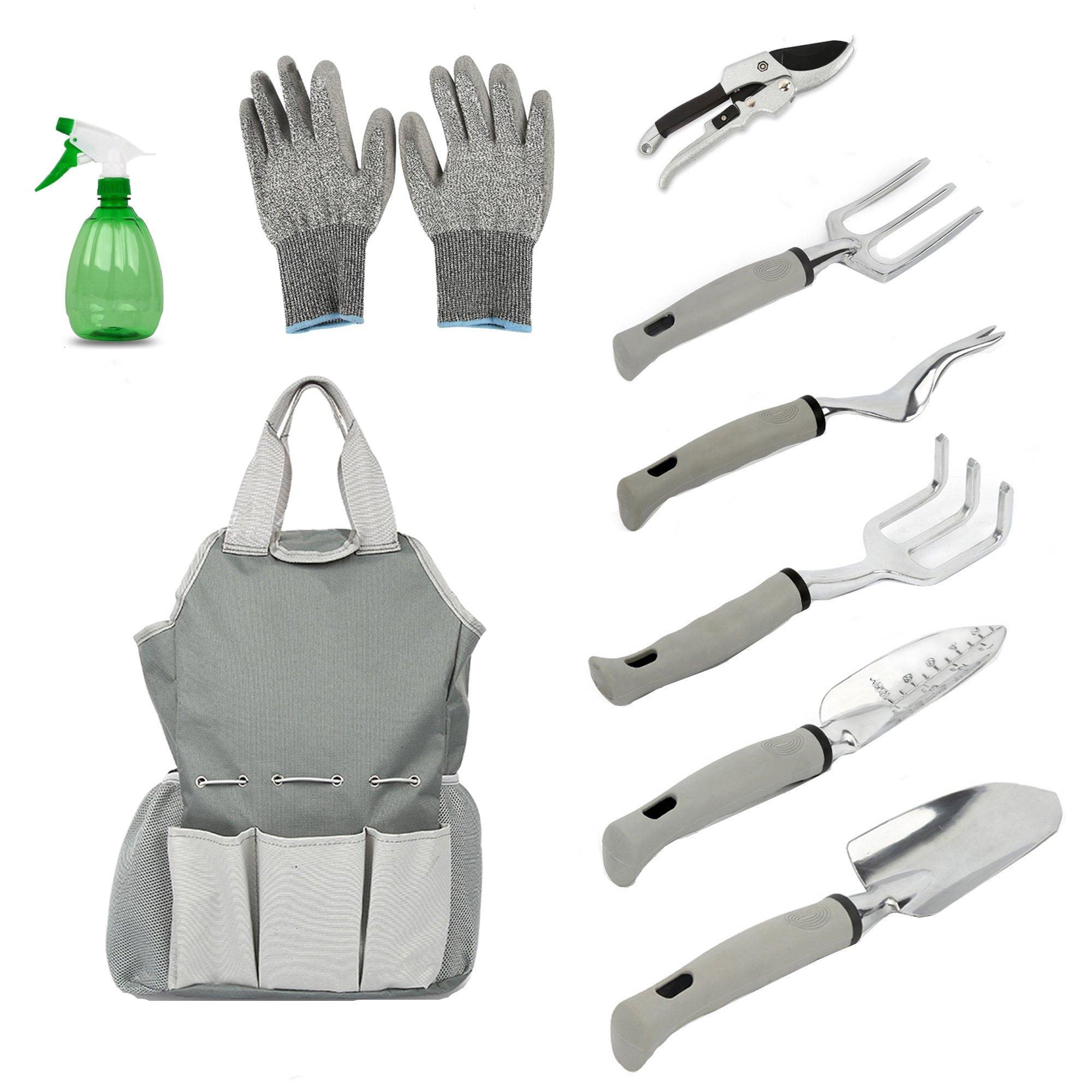 9Pcs Planting Hand Tool Set with Storage Bag