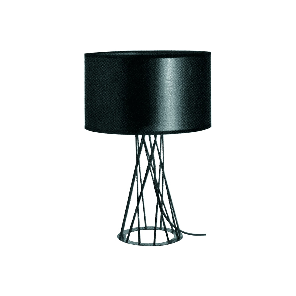 Scandinavian Table Light - Black Drum Shape