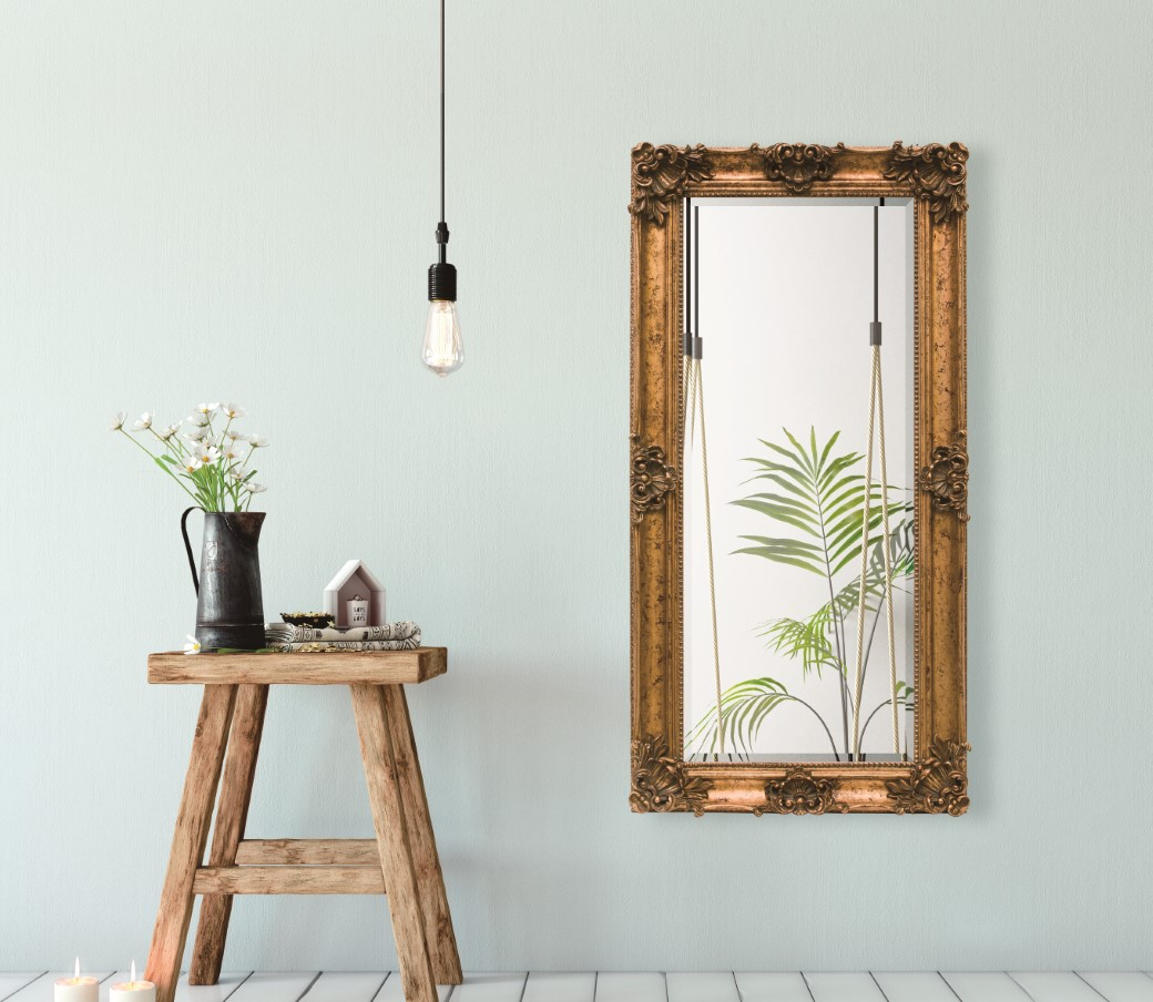 Lifespace Antique Gold Full Length Bevelled Mirror