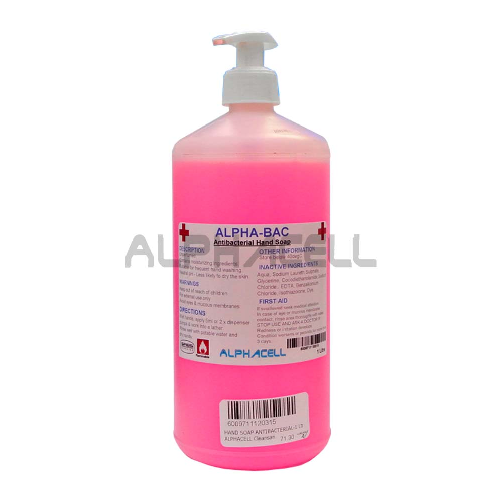 HAND SOAP ANTIBACTERIAL-1 Ltr  ALPHACELL Cleansan