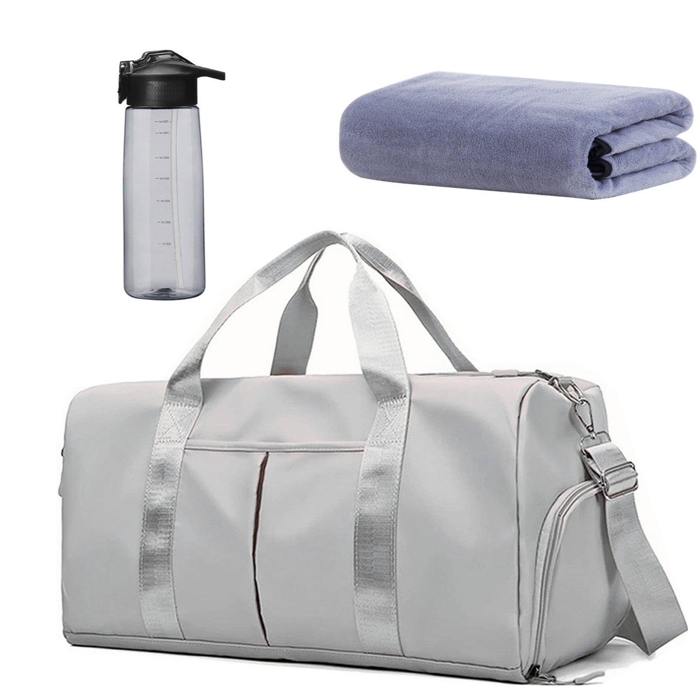53L Gym Duffel Travel Bag Set - Light Grey