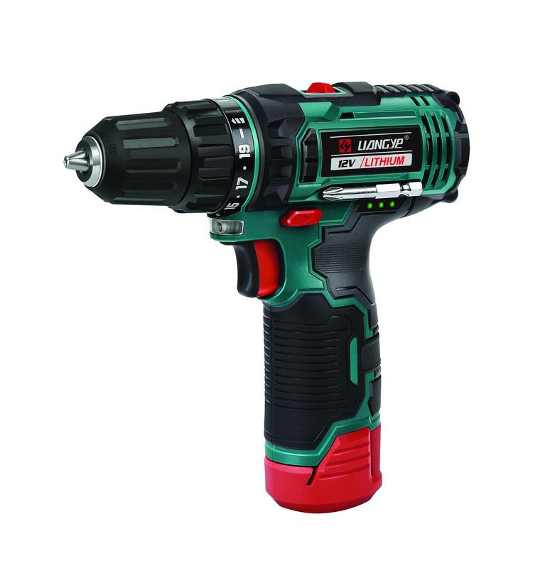 12V 2.0AH Cordless Drill - 2 Speed - 10mm Chuck