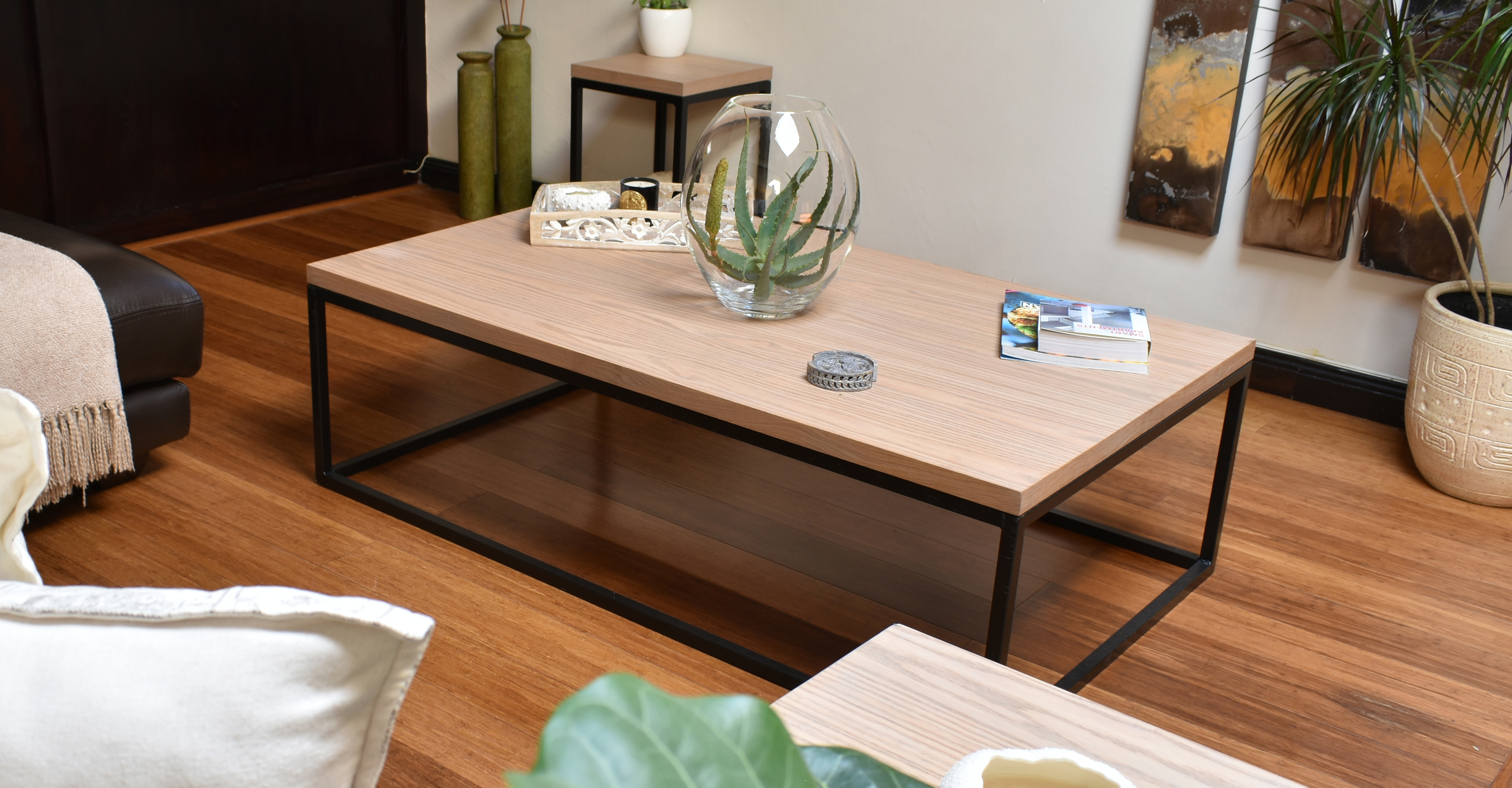 Rectangular Coffee Table (Oyster)