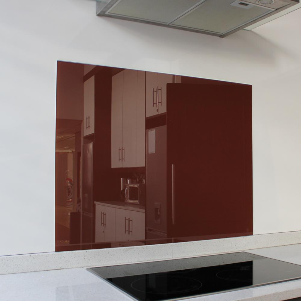 Burgundy Hob Glass Splashback (898 x 700 x 6mm)