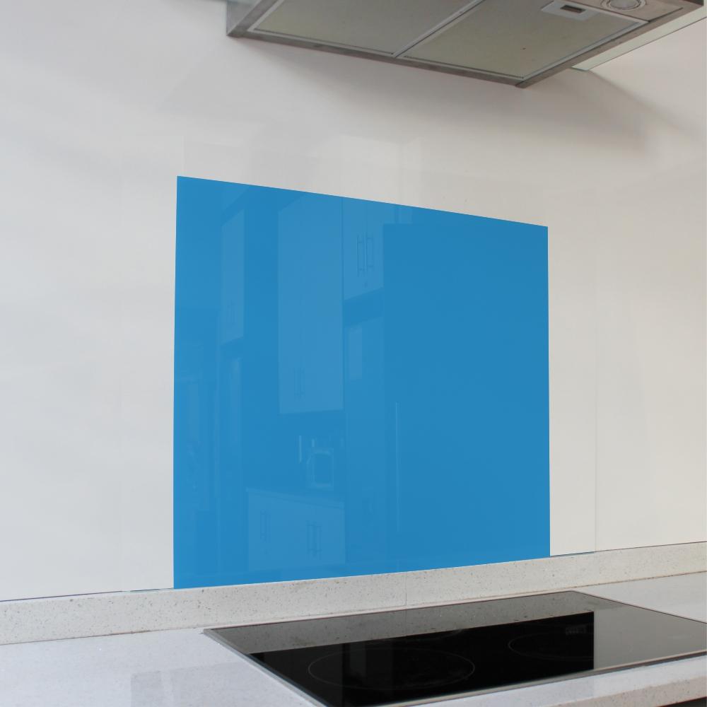 Blue Hob Glass Splashback (598 x 650 x 6mm)