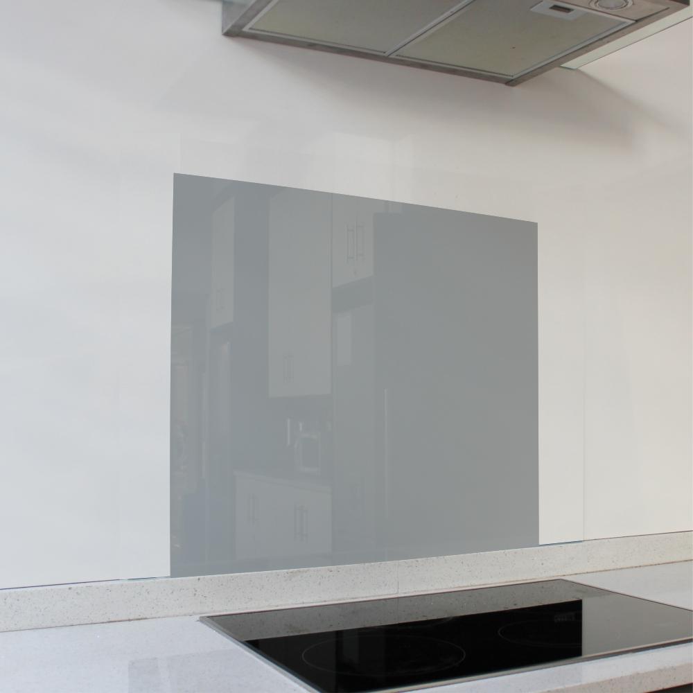 Cool Grey Glass Splashback (598 x 650 x 6mm)