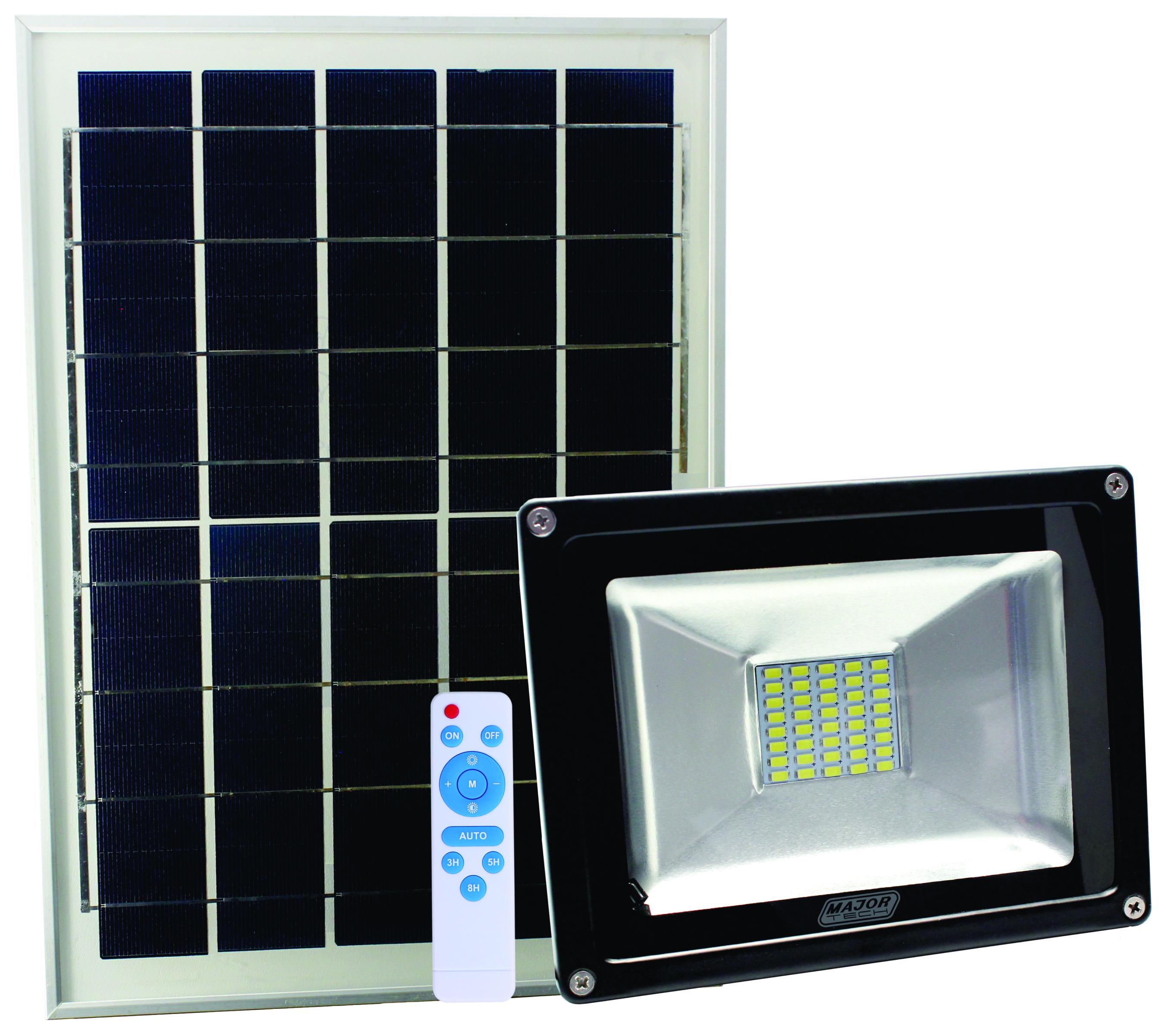 20W Solar Power LED Outdoor Flood Lights (SFR210) - Major Tech