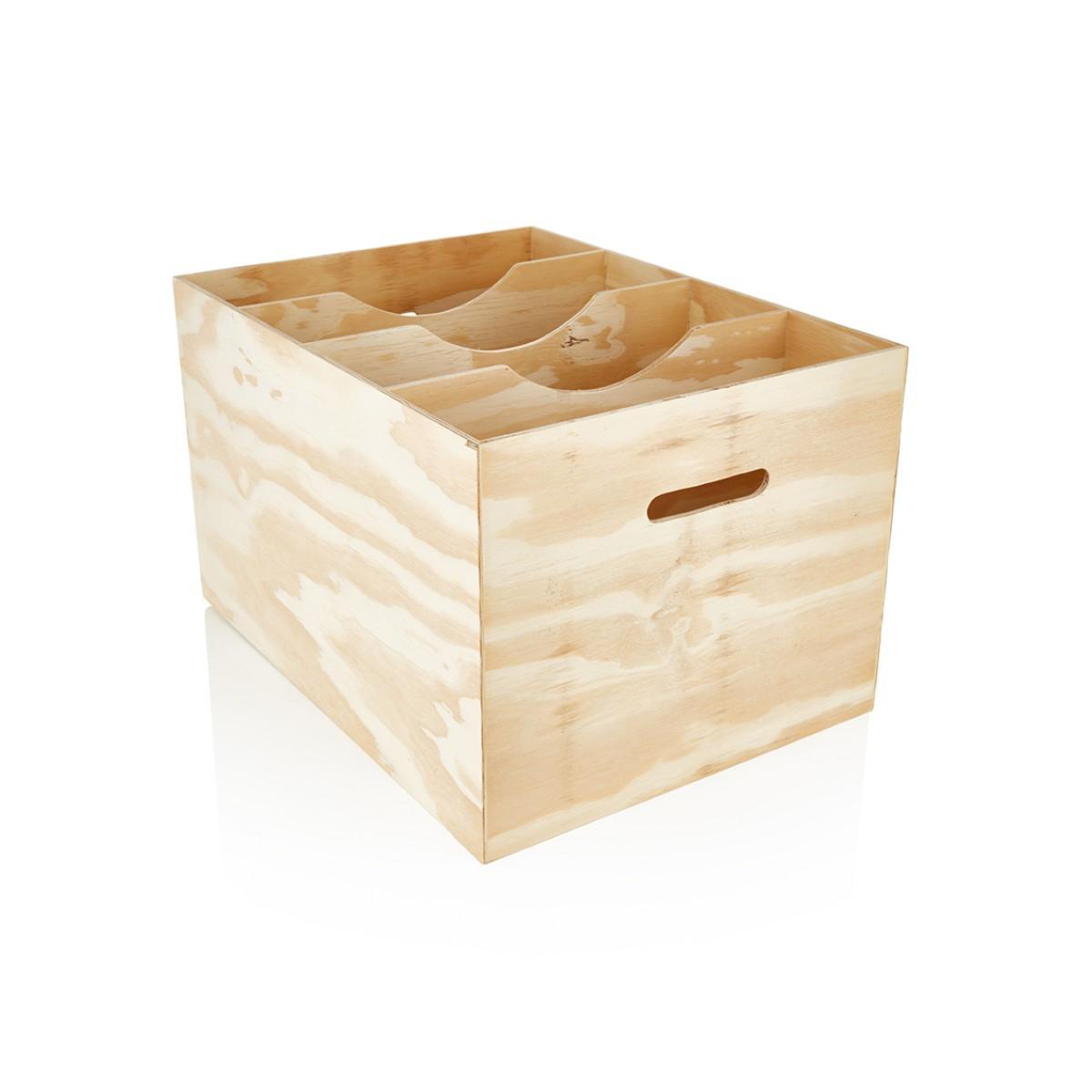 Arch Lever File Box - No Lid - Natural