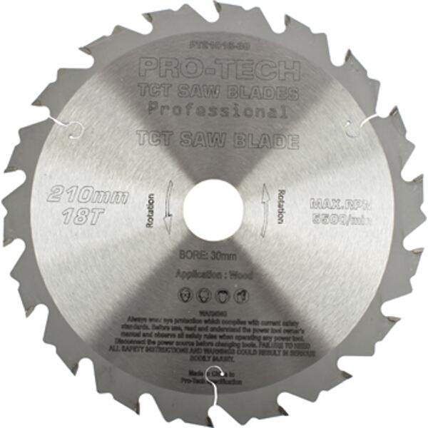SAW BLADE TCT 210X2.4X30X18T WOOD PROF. PRO-TECH FES. TS75