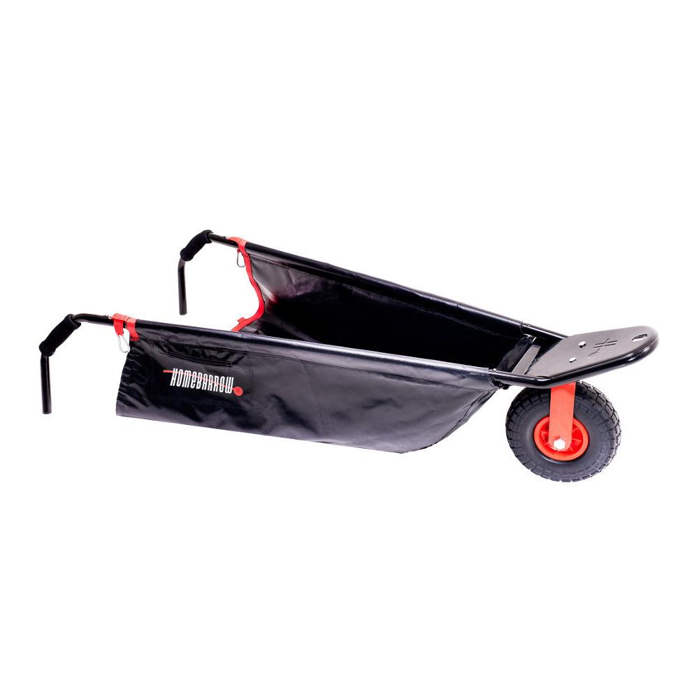 HomeBarrow - space saving, collapsible, steerable home wheelbarrow.