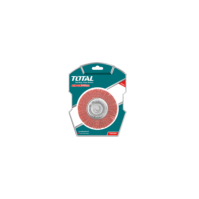 Total Tools Cup Brush 75mm Nylon