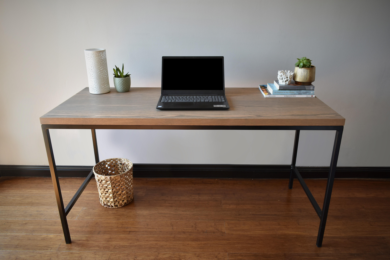 Oak Veneer Desk (Taupe)