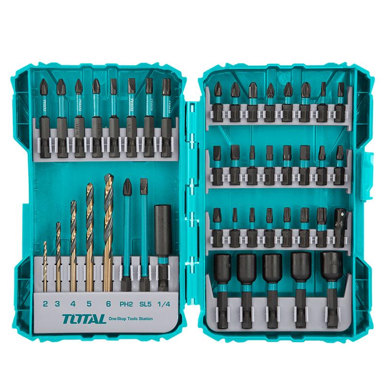 Total Tools Screwdriver Bit Set 45Pcs Impact