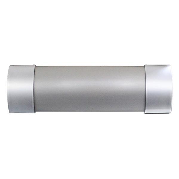 Matoc 106mm Curtain Pelmet - Brushed Silver - 2.0m