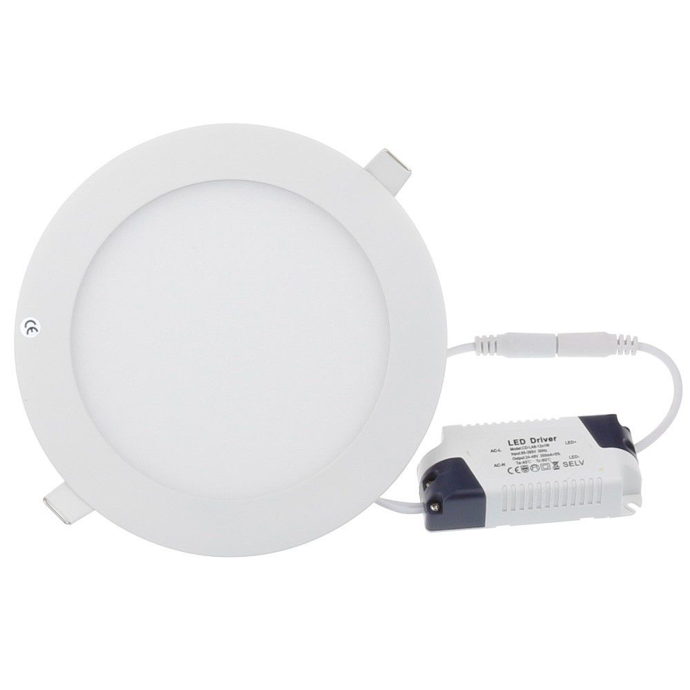 6W Round LED Panel Light - White 4 Pack